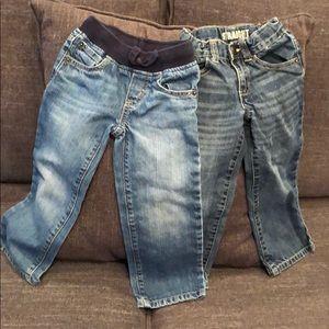 2 pair Gymboree jeans straight leg.